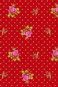 PiP Roses and Dots Rood behang