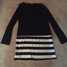 Dress Black top part of dress with a striped bottom Dresses