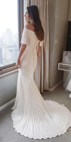 lace back wedding dresses trumpet off the shoulder suzanne neville