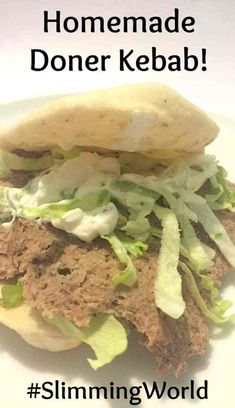 Do you enjoy a good kebab but hate the greasiness of them sometimes? Try this version of a homemade doner kebab which is delicious and healthy too. Slow Cooker Slimming World, Slimming World Dinners, Slimming World Recipes Syn Free, Slimming World Diet, Slimming Eats, Slimming Workd, Kebab Recipes, Lamb Recipes, Cooking Recipes