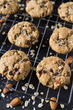 Crispy Peanut Butter Chocolate Chip Cookies from Oh She Glows. Vegan and gluten free.