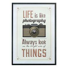 Affiche imprimée encadrée Photography  noir et beige  50 x 70 x 1,6 cm