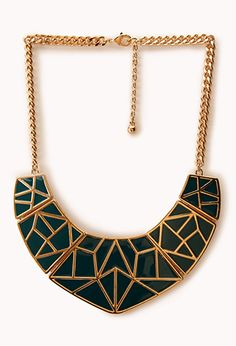 Standout Geo Bib | FOREVER21 Standout in a crowd #Statement #Necklace #Accessories