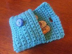 Easy coin purse/wallet - free crochet pattern on Ravelry