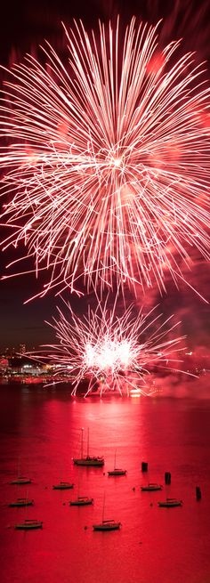 ✯ Fireworks on 4th of July taken from a rooftop in New York #celebrate #independenceday