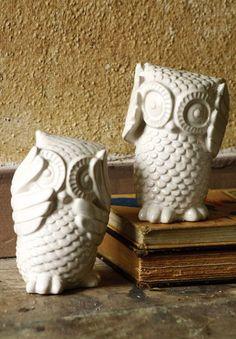 adorable owl figurines