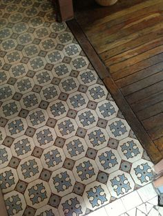 transition patterned tile to wood - Google Search