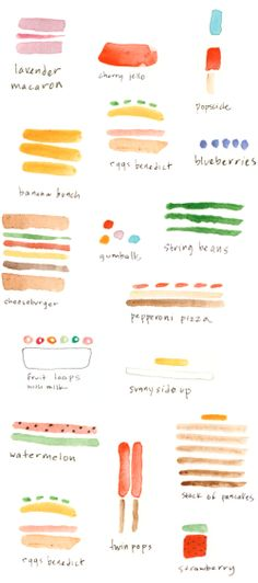 water color summer foods