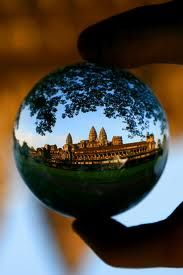 A different view of Ankgor Wat in Cambodia.