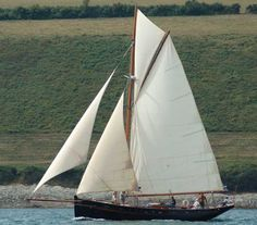 Yseult, 46ft St Malo Pilot Cutter; Yseult is a 46ft Gaff Cutter built in GRP in 2000 by Martin Heard's Gaffers and Luggers at Mylor Creek near Falmouth. The lines are based on a St Malo Pilot Cutter designed by Francois Lemarchand in 1891.