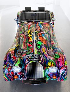 The Morgan Motor Company invited Hornsleth to paint an exclusive series of ten Morgan 4/4 sport car, Cool stuff!