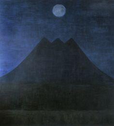 Þrýhyrningur Oil on canvas-Georg Guðni