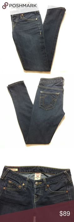 True Religion Stella Skinny jeans Fantastic condition! Like New except for the tag on the back, which has a crack in it. Bundle 3+ from me and save 15%, only pay shipping once, and get a free gift! True Religion Jeans Skinny