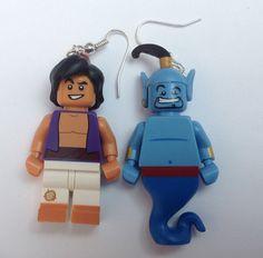 Disney Lego Minifigure Earrings Aladdin and Genie by EarYouGo