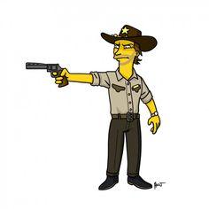 Rick Grimes / The Walking Dead Gets Simpsonized in Eerily Good Fan Art | Underwire | Wired.com