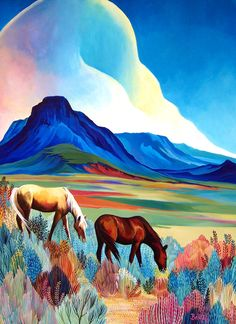 Deep Blue by Sally Bartos, New Mexico artist. Her work is available from bartos on Etsy.