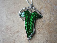 2 in 1 Lord of The Rings Elf Leaf Brooch Pendant by BilingualBunny