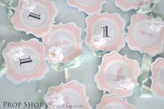 Cupcake toppers    www.facebook.com/propshopboutique
