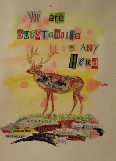 You are Outstanding in Any Herd - a card from Chique Lixo - a little Idaho card company