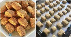 Dışı kıyır kıyır ve bol susamlı, içi ceviz ve kuş üzümlü bu kurabiyeleri çok seveceksiniz. Tam bir çay kurabiyesi olan tahinli üzümlü kurabiye yapımı için gerekli malzemelerimize