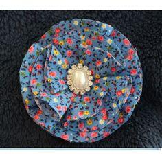 $8.00 Blue Vintage Flower Clip