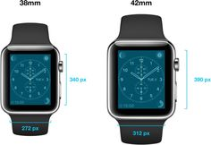 Apple Watch Screen Resolutions: 312 x 390 for 42mm Version, 272 x 340 for 38mm Version - https://www.aivanet.com/2014/11/apple-watch-screen-resolutions-312-x-390-for-42mm-version-272-x-340-for-38mm-version/