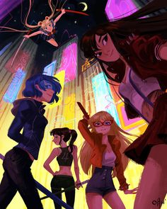 My piece for Qpop's Sailormoon Tribute Show! Come by and say hello and check out equally cool arts!