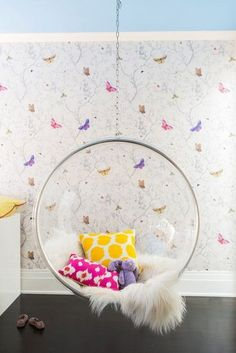Butterfly Girls Bedroom // Nicole Hollis // Lonny Reagan Loves This