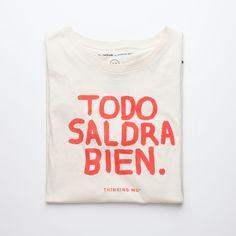 Todo saldrá bien Todo saldrá bien #Fashion #ThinkingMU #Woman #Clothes #Smile #Red #White #Shirt #Good #Smile #Camiseta #Love #Lovely  #Alright #Positivism #Optimism #Optimismo #Positividad #Sonrisa #Sol #Verano #Summer