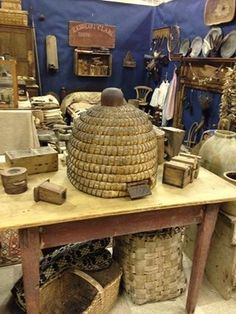 Bee skep we lived with for a bit and sold at Simple Goods~