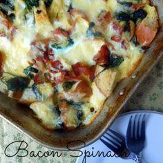 Bacon Spinach Breakfast Casserole | Sugar Dish Me