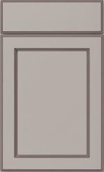 Utility Room Cabinetry - Adams Door with Slab Drawer in Stone with Black Glaze