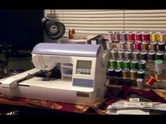 Brother Maintenance Tasks Slide Show. Brother Embroidery Machine, Machine Embroidery Projects, Machine Embroidery Applique, Machine Quilting, Embroidery Machines, Cute Embroidery, Embroidery Ideas, Brother Innovis, Learning To Embroider