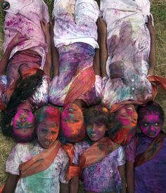 Abir, used during Indian Holi festival, is a scented powder made from fragrant plants. Holi is a spring Hindu festival of color.