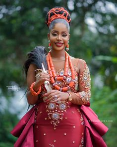 Here are some gorgeous wedding dress styles you can choose from for your african traditional wedding. Here are some gorgeous wedding dress styles you can choose from for your african traditional wedding. Nigerian Wedding Dresses Traditional, Traditional Wedding Attire, African Traditional Dresses, Traditional Outfits, Gorgeous Wedding Dress, Wedding Dress Styles, Igbo Wedding, Wedding Ceremony, Wedding Hijab