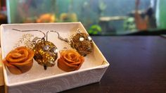 Who doesn't love a little bit of gold? These are my gold rose and skull polymer clay earrings that are for sale in my shop. With Halloween around the corner these are perfect for the holiday  Check out this item in my Etsy shop https://www.etsy.com/listing/236042363/golden-skull-and-rose-polymer-clay