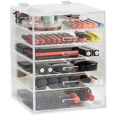 #Beautify 6 tier clear #acrylic cosmetic makeup #organiser storage box case…