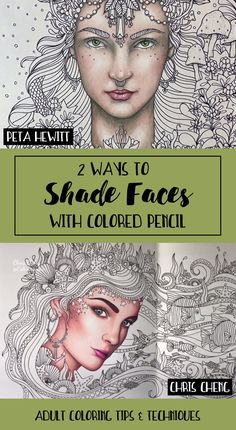 Color Pencil Drawing Tutorial 2 Ways to Shade Faces with Colored Pencils - Coloring skills not up to par? This massive collection of adult coloring tutorials will show you new techniques for colored pencils, markers and more! Pencil Drawing Tutorials, Art Tutorials, Pencil Drawings, Horse Drawings, Pencil Sketching, Animal Drawings, Coloring Tips, Adult Coloring, Coloring Books
