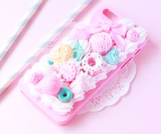 Pastel Blue and Pink Sweets Phone Case