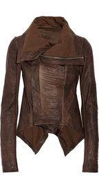 Rick OwensPaneled leather jacket