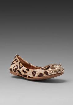 Sam Edelman Beatrix Flat in Ivory Leopard/Egyptian Gold