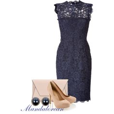 Blue and Nude, created by mandalorean on Polyvore