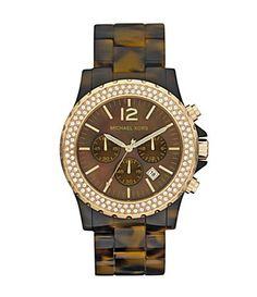 Michael Kors Tortoise Madison Chronograph Watch <3