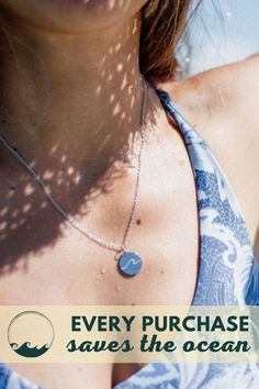 We have a million reasons why we love this beach wave necklace! Discover more minimalist and ocean-themed jewelries at atoleajewelry.com Free shipping worldwide!