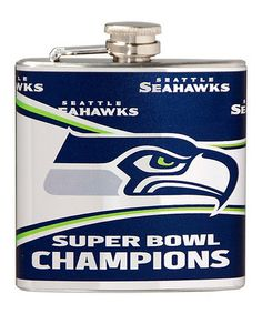 Look at this #zulilyfind! Seattle Seahawks Super Bowl Champions Hip Flask #zulilyfinds