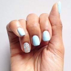 If you haven't got your 'something blue', why not go for blue bridal nails? Don't go for a garish hue - opt for a duck egg blue shade and you won't regret it years down the line. Pastel Blue Nails, Duck Egg Blue Nails, Subtle Nail Art, Red Carpet Manicure, Bridal Nail Art, Pin On, Powder Nails, Stylish Nails, Perfect Nails