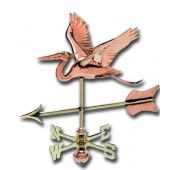 Heron 3-D Cottage Copper Weathervane