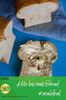 Mad Creations Low Carb Bread recipe is easily the best keto bread - Breads - Brot Best Low Carb Bread, Lowest Carb Bread Recipe, Foods With Gluten, Sans Gluten, Keto Foods, Keto Meal, Keto Snacks, Gluten Free, Pain Keto