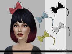 Ribbon Bow Headband the sims 4 _ - Asia VietNam The Sims, Sims Cc, Sims 4 Cas Mods, Chibi, Big Wedding Dresses, Sims 4 Cc Skin, Sims 4 Cc Furniture, In A Little While, Sims Community
