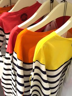 Even Junior Gaultier's classic stripes get a colour patch for kidswear spring 2016